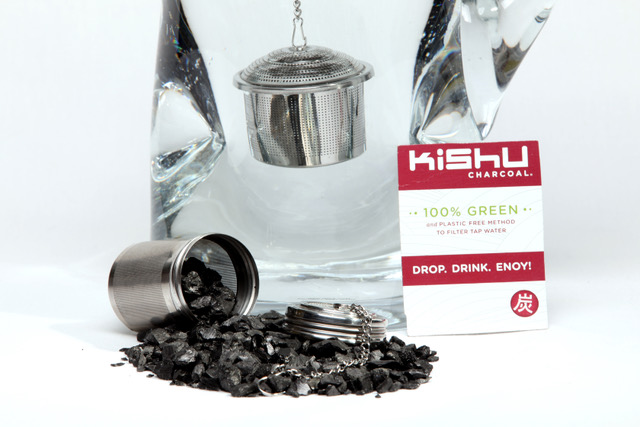 KISHU CHARCOAL BITS FOR FAST WATER FILTRATION - includes Infuser + 1 year supply!